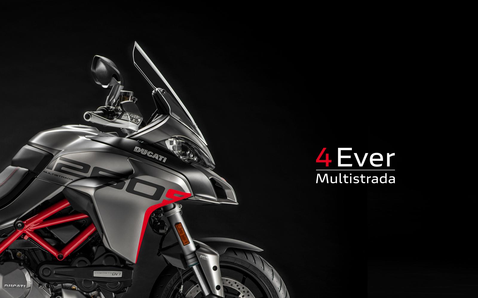 Ducati presenta la garanzia di 4 anni per tutti i modelli Multistrada 950 e 1260 della gamma 2020.